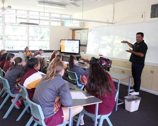Beyond Broncos Indigenous Girls Academy's program